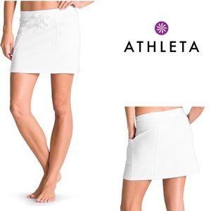 Athleta White Bay Beach Skirt EUC Size Medium